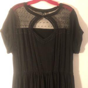 Lace cutout plus size skater dress (torrid).